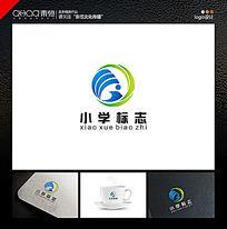 教育业logo设计校徽设计