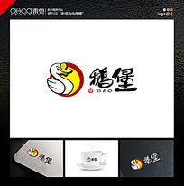 卡通鹅logo餐饮logo