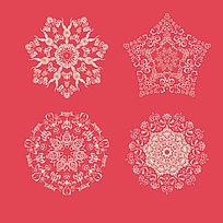 欧式古典花纹花边AI矢量图