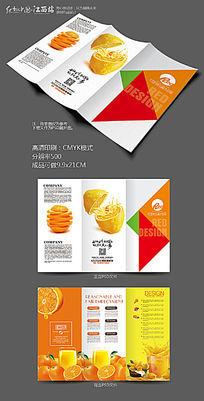 鲜榨果汁三折页模板