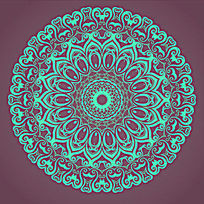 圆形欧式花纹装饰轮