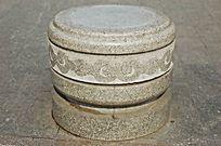 圆形装饰柱墩石雕小品