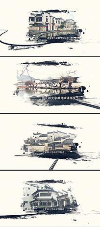 中国风水墨江南AE片头模版