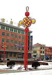 中国结灯柱