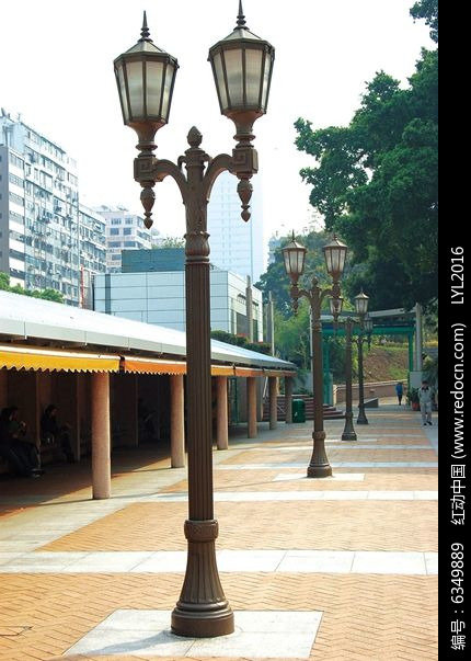 中式复古两头式路灯图片