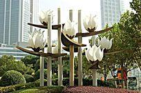 大型不锈钢雕塑景观灯