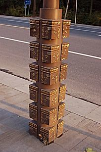 方形装饰柱金属雕塑小品