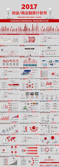 简洁实用创业商业融资计划书PPT模板