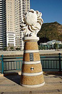 巨蟹座景观柱石雕小品