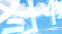 透明玻璃质感企业logo图标展示AE模板