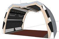 异形多功能钢制廊架