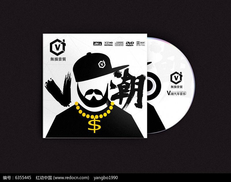 潮流时尚前卫嘻哈风格音乐光盘封面设计图片