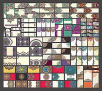矢量精品民族时尚古典花纹底纹边框