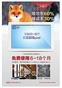 平板电脑PAD宣传单页
