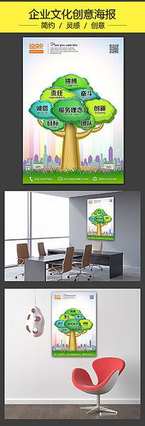 企业文化标语创意海报