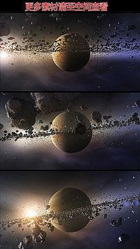土星小行星带高清视频素材