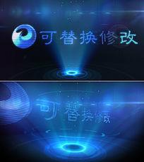 震撼粒子光线投影logo演绎模板