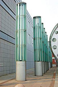 玻璃圆柱形景观灯柱 JPG
