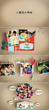 儿童相册片头生日影集成长纪念册AE模板
