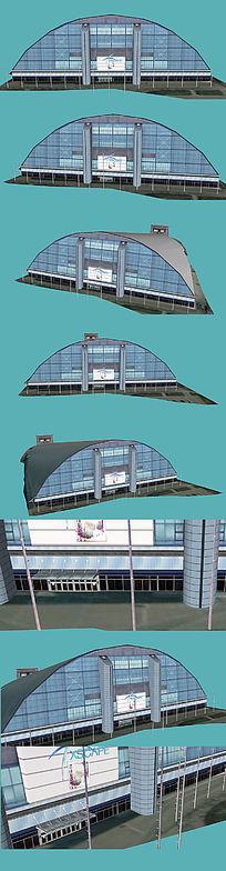 滑雪场娱乐中心SKP模型下载