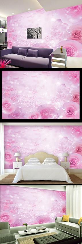 浪漫梦幻玫瑰电视背景墙装饰画