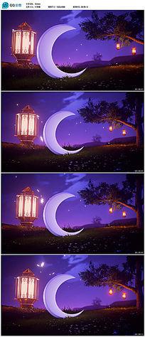 唯美阿拉伯节日灯笼视频