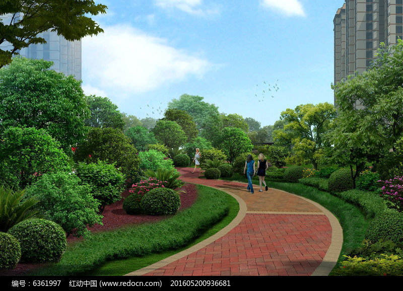 原创设计稿 效果图库/视频展示 住宅区 宅间景观  请您分享: 红动网