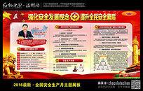 2016全年安全发展观念生产宣传栏
