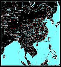 DWG格式中国地图