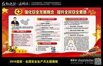 红色最新安全月生产宣传栏展板
