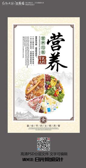 简约营养食堂文化海报设计 PSD