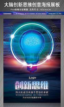 企业科技创新思维大脑创意海报