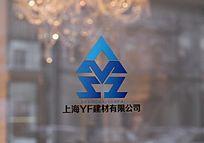 YF蓝色创意logo