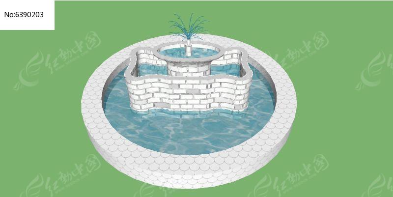 白色欧式简约造型喷泉