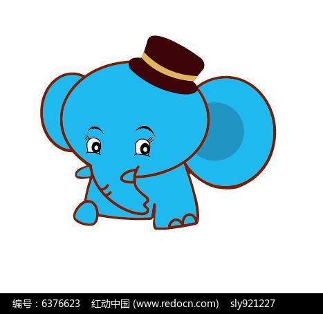 卡通矢量大象图片
