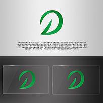 绿色环保商务生物字母DLOGO AI