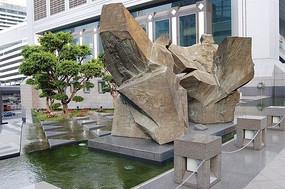 门前水景雕塑小品