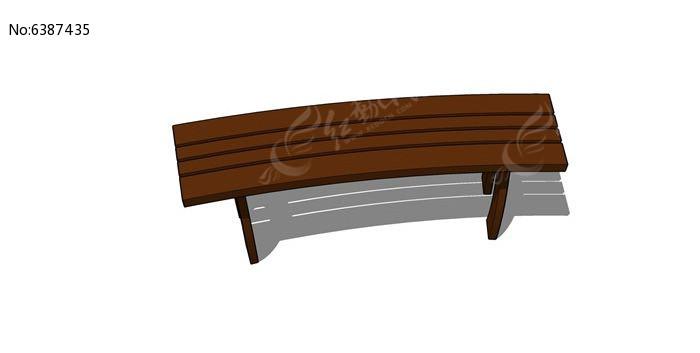 木质弧形坐凳模型图片