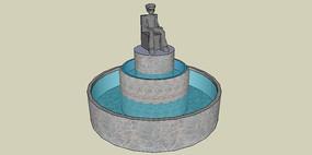 欧式雕塑简约水体