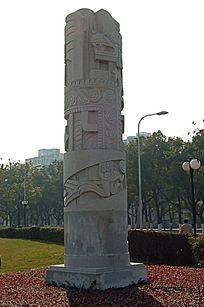 图案雕刻景观柱