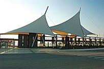 异形张拉膜广场休闲钢构架