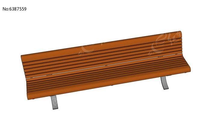 直线型广场木贴面座椅