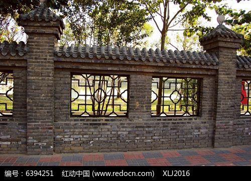 中式砖砌护栏图片