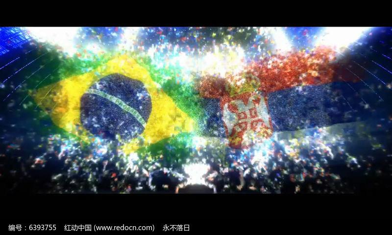 2018世界杯足球比赛开场片头模板aep素材下载