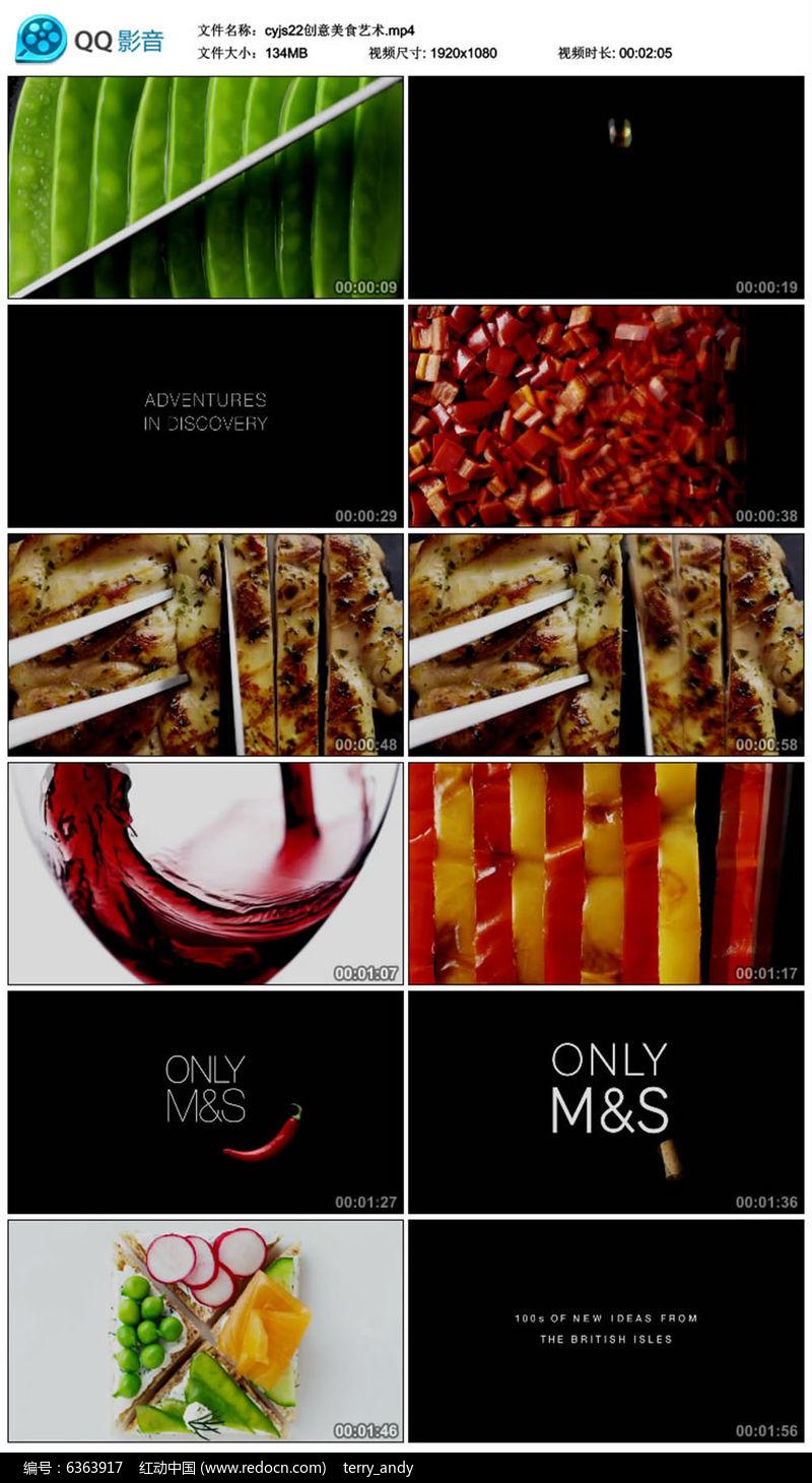 创意美食艺术视频素材图片