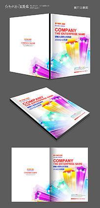 动感线条科技画册封面模板设计