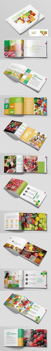 方块多色水果画册
