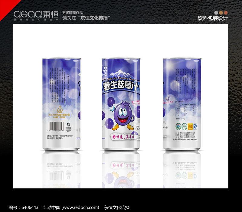 罐装蓝莓汁包装图片
