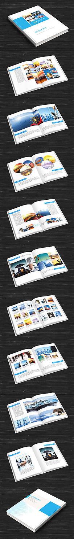 蓝色企业文化整套画册