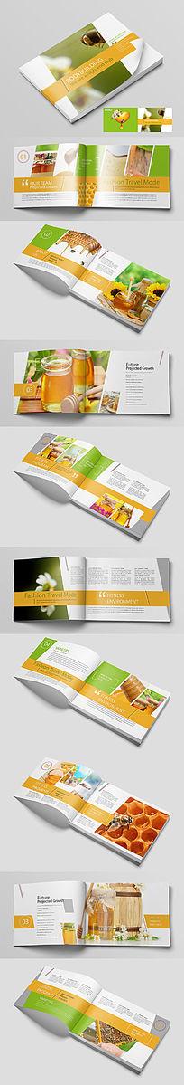 天然营养蜂蜜画册设计